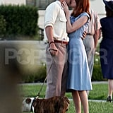 Emma Stone and Ryan Gosling filmed a kissing scene for The Gangster Squad.