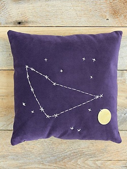 Capricorn Star Sign Pillow ($98)