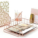 Blu Monaco Rose Gold Desk Set