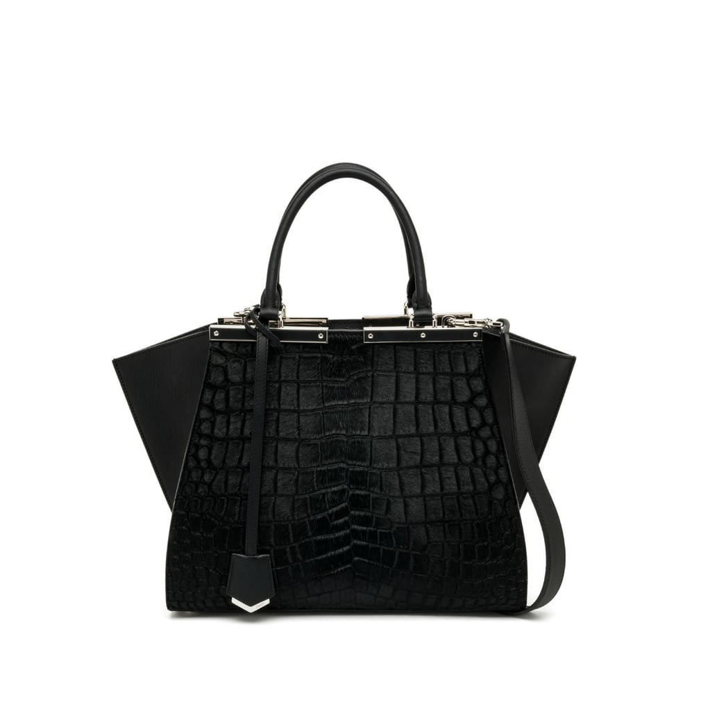 Fendi 3Jours Crocodile-Embossed Calf Hair & Leather Shopper ($3,450)