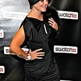 In November 2009, Kelly Osbourne brought her Pomeranian, Sid, as her date for a Swatch event in NYC.