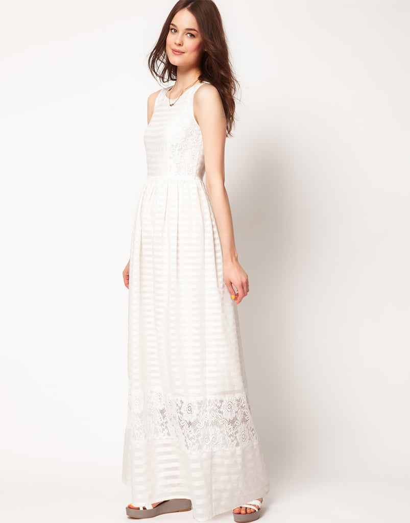 Paul by Paul Smith Lace Detail Maxi Dress ($548)