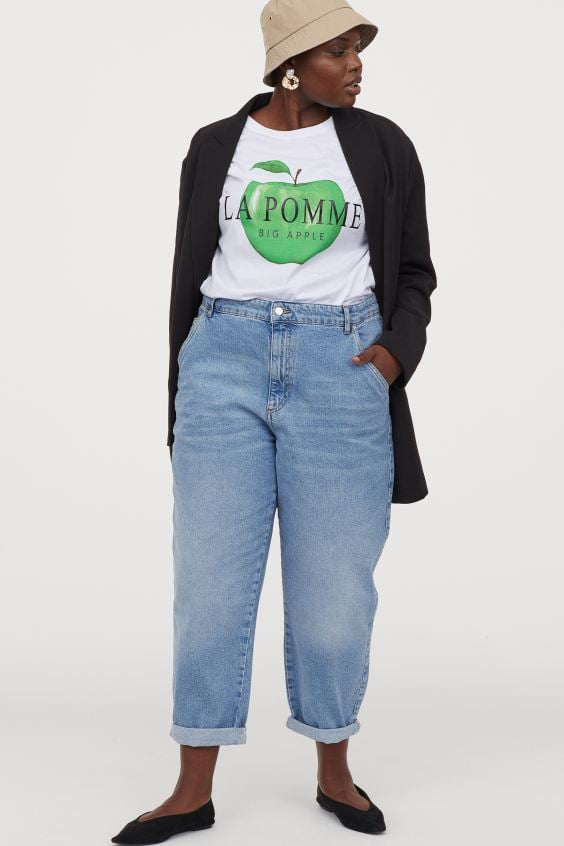 H&M Plus Size Tapered High Jeans
