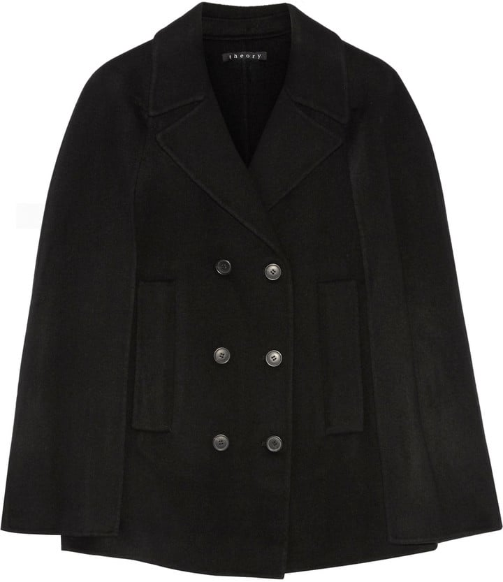 Theory Kapalin Wool and Cashmere-Blend Cape ($595)