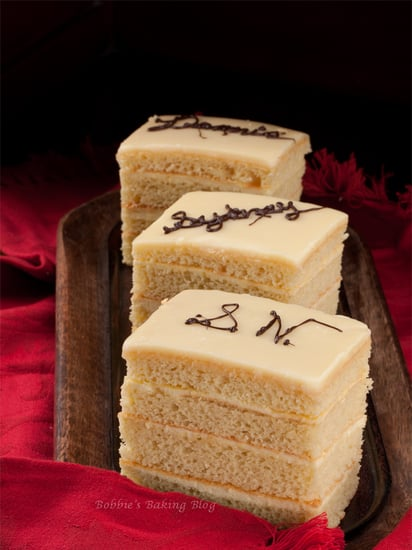 opera cake with bavaroise creme