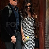 Miranda Kerr stepped out for the day after landing in NYC with Flynn.