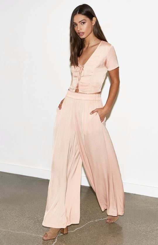 Kendall & Kylie Washed Silky Palazzo Pants ($40)
