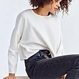 BDG Fuzzy Crew-Neck Sweater