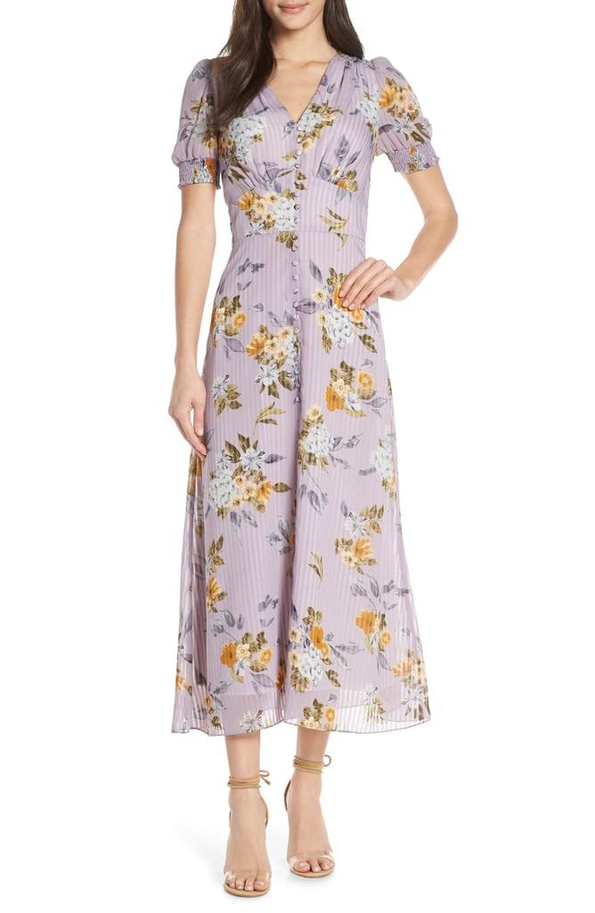 Chelsea28 V-Neck Floral Midi Dress