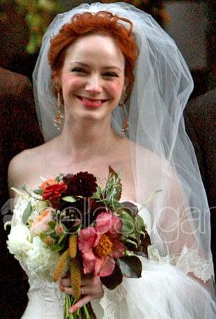 Christina Hendricks's Wedding Makeup