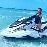 Bella Hadid Riding a Jet Ski