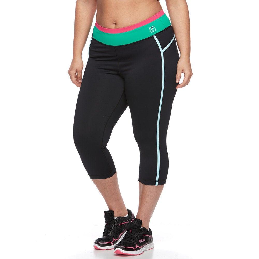 bd35222776c3b Fila Sport Colorblock Yoga Capris