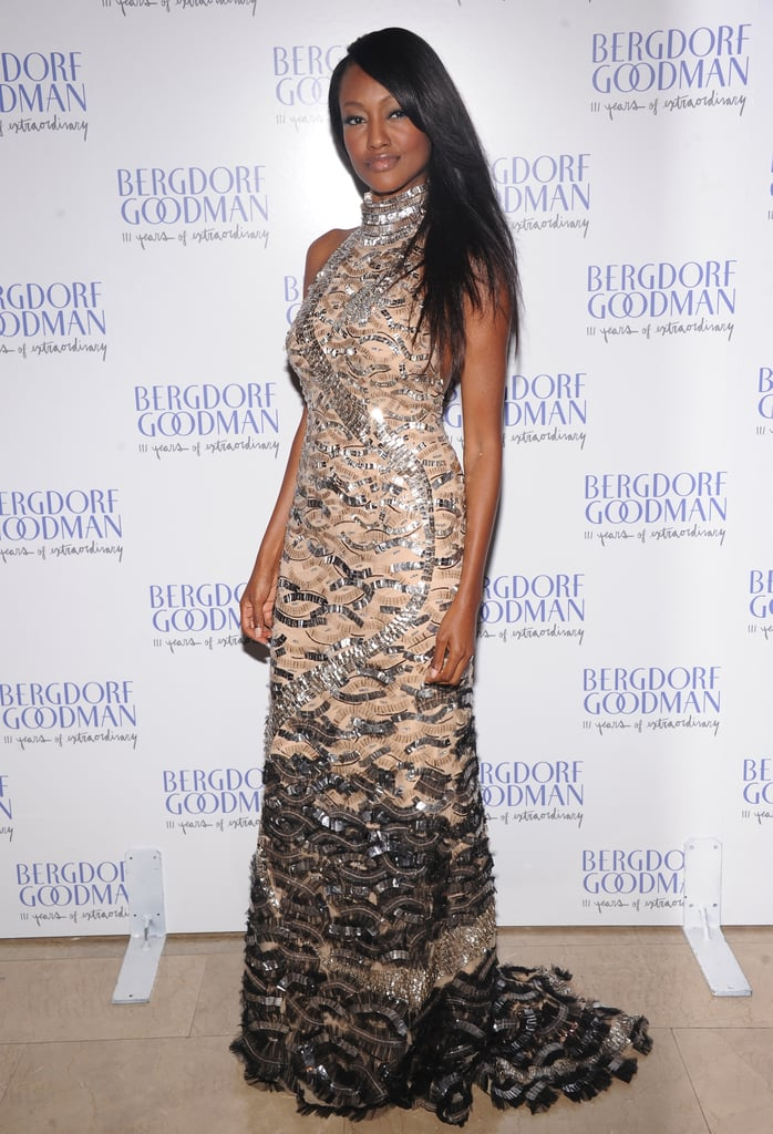 Actress Nichole Galicia donned a beaded ivory gown.