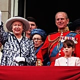 How cute is Eugenie in 1999, during the queen's birthday celebrations?