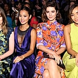 Gillian Jacobs, Ashley Madekwe, Mary Elizabeth Winstead and Jamie Chung at Monique Lhuillier Spring 2016