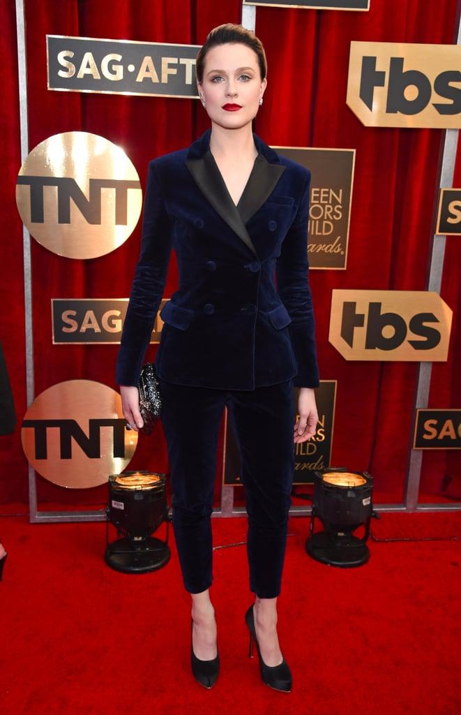 Evan Rachel Wood's Altuzarra Suit at SAG Awards 2017