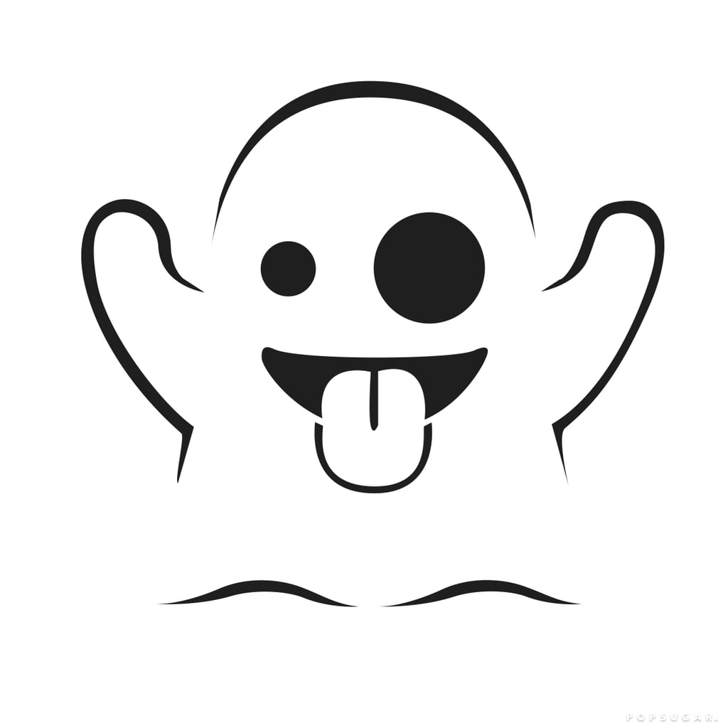 Ghost | Free Emoji Pumpkin Templates | POPSUGAR Tech Photo 6