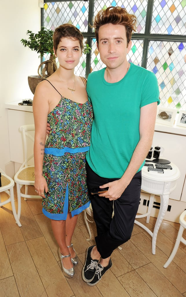 Pixie Geldof and Nick Grimshaw attended Kate Moss's event in London.