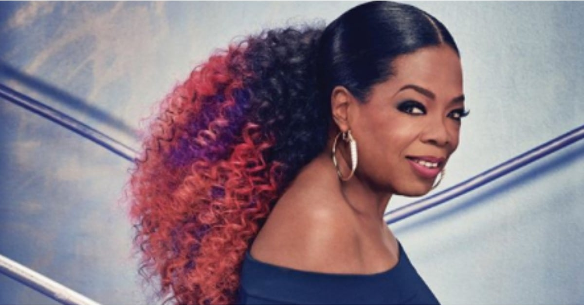 Oprah Wears Purple Hair On The Cover Of O Magazine Feb 2018