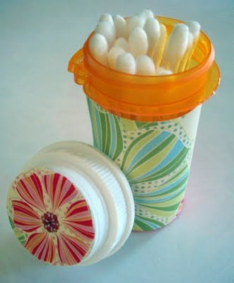 Pill Bottle Q-Tip Holder