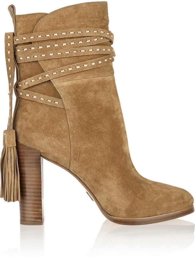 Michael Kors Tasseled Suede Ankle Boots ($495)