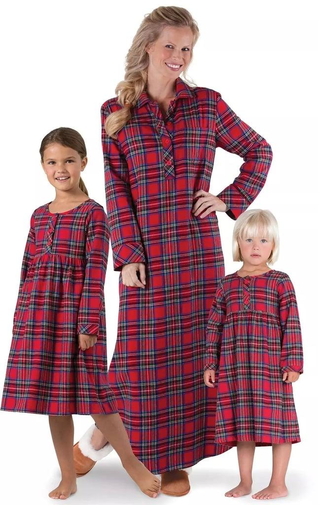 Stewart Plaid Flannel Mommy & Me Matching Nighties