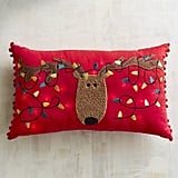 Light-Up Reindeer Lumbar Pillow ($35)