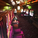 You can ride inside the Lilly Belle train car.