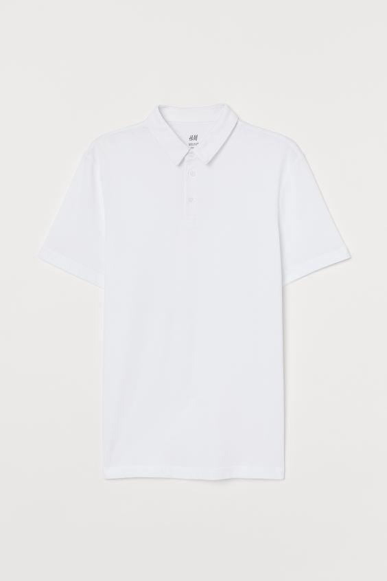 COOLMAX® Polo Shirt - White - Men | H&M US