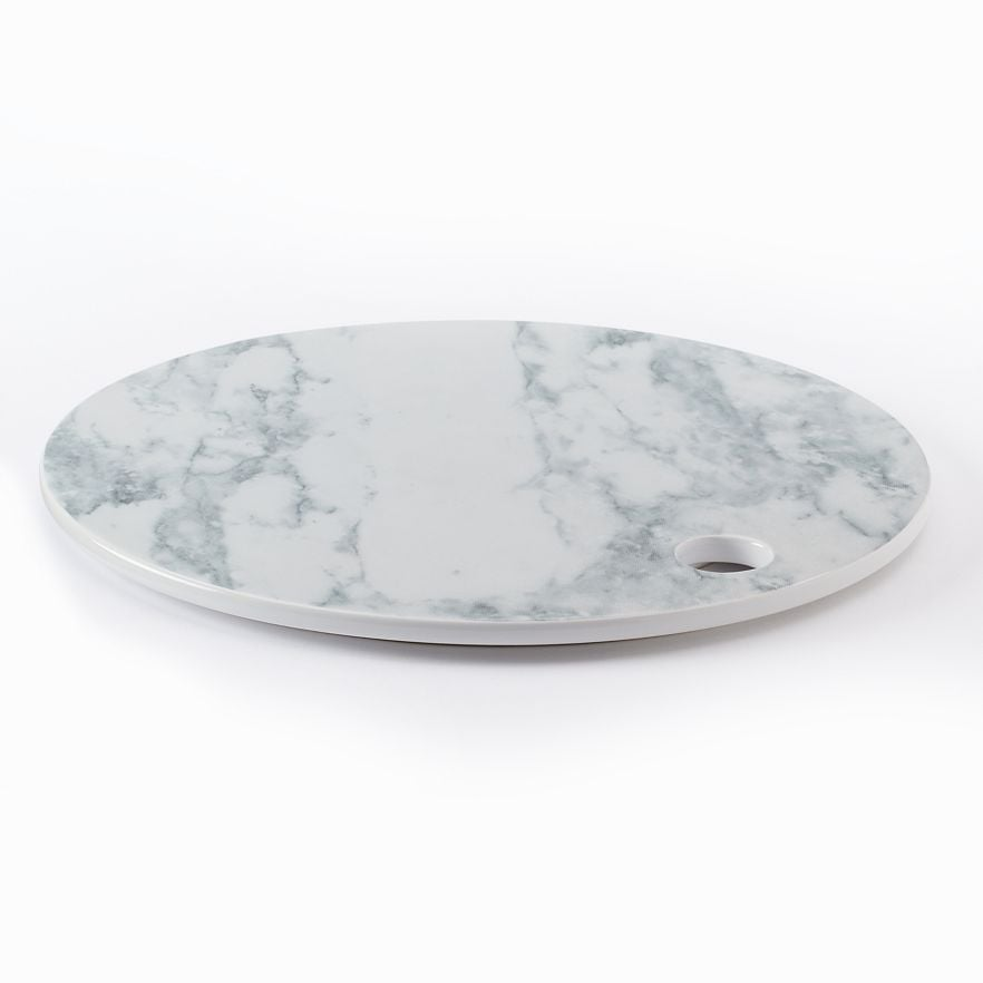 Food Network 12-in. Round Faux-Marble Cheese Board ($25)