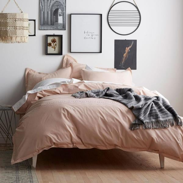 Cstudio Home by The Company Store Tara Eyelet Blush Cotton Duvet Cover