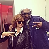 Susan Sarandon hung out with Snoop Dogg. Source: Instagram user snoopdogg
