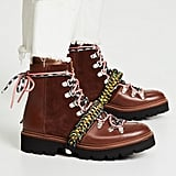 Hailey's Grenson x House of Holland Vivid Combat Boots in Brown