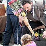 Ben Affleck shopped for roses with Seraphina.