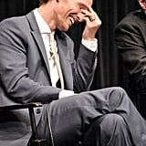 Matthew McConaughey gave a laugh at the Killer Joe screening in NYC.