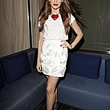 Christa B. Allen struck a pose at the opening party for the London Show Rooms in LA.