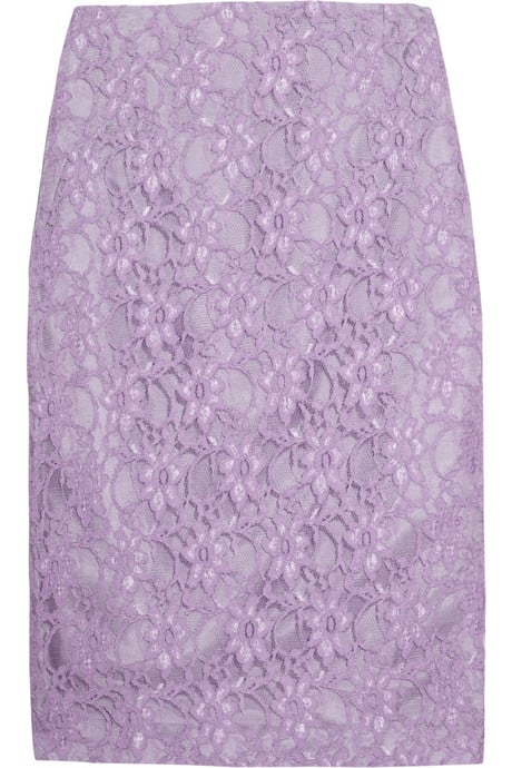 This skirt is a double dose of a pretty, thanks to the pastel hue and lace detailing.  Helene Berman Lace Pencil Skirt ($85)