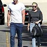 Miley Cyrus and Liam Hemsworth headed to Starbucks together in LA.