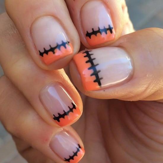 Einfache Halloween-Nägel