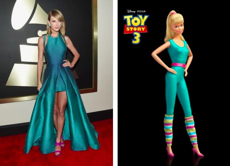 Taylor Swift Is Kind Of A Dead Ringer For Barbie Right The Internet S Most Brutally Honest Reactions To This Year S Grammys Popsugar Celebrity Photo 4