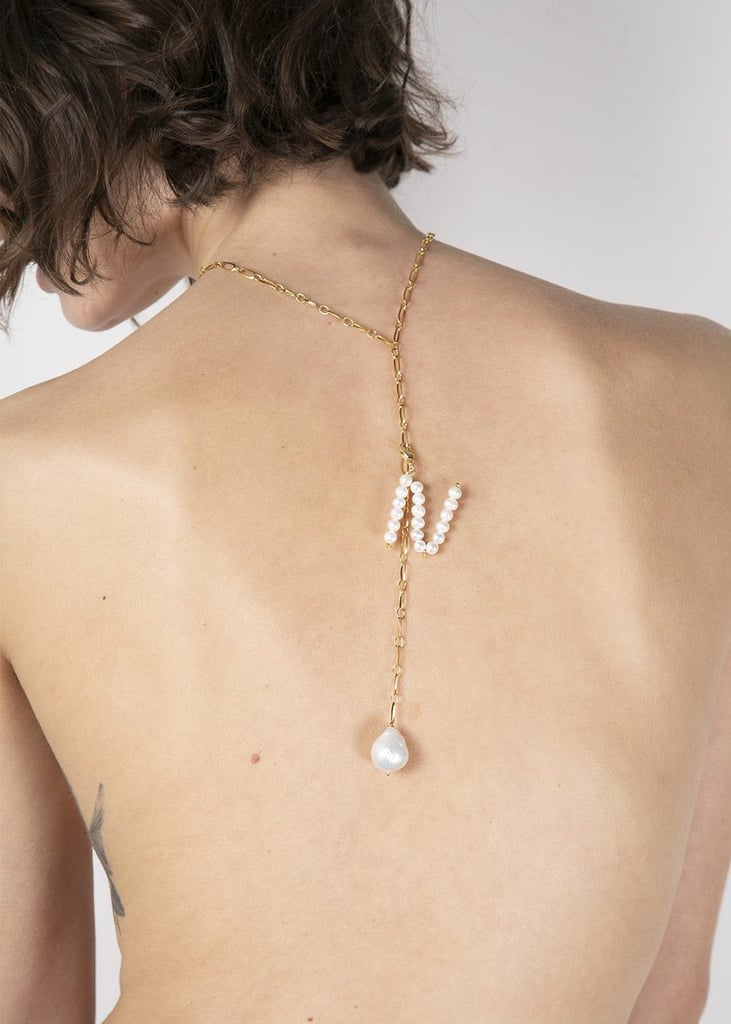 Timeless Pearly Pearl Letter Pendant