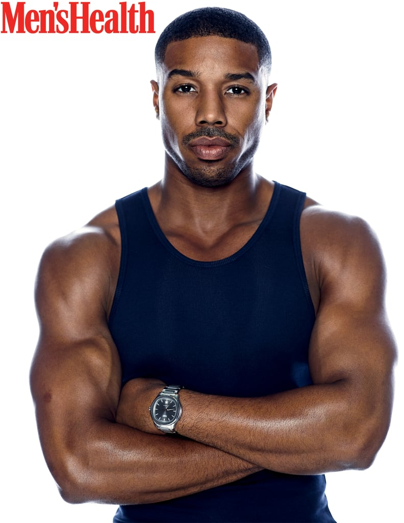 Michael B. Jordan is the latest star to grace the cover of Men's Health, and damn, he looks good. In addition to putting his sexy and muscular physique on display and giving us a small glimpse of his perfectly chiseled abs, the 31-year-old actor opened up about how he lives up to his name and whether or not he's actually met the original Michael Jordan. On top of that, Michael also revealed why he was initially hesitant to accept a role in the upcoming Fahrenheit 451 film — don't worry, you'll still be able to catch him in it on May 19. Keep reading for all that and more, and check out his full interview here.      Related:                                                                                                           Michael B. Jordan's Evolution From Cute Teen Actor to Full-Fledged Sex Symbol