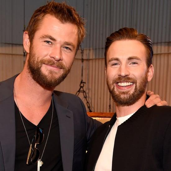 Chris Hemsworth and Chris Evans at the MTV Movie Awards 2016