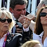 Kate and Camilla checked out the event in their shades.