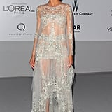 Heidi Klum in an Embellished Marchesa at the 2012 amfAR Gala