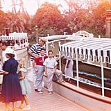 Guests boarded riverboats.