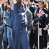 Kate Middleton Wears Polka-Dot Dress to Bletchley Park 2019