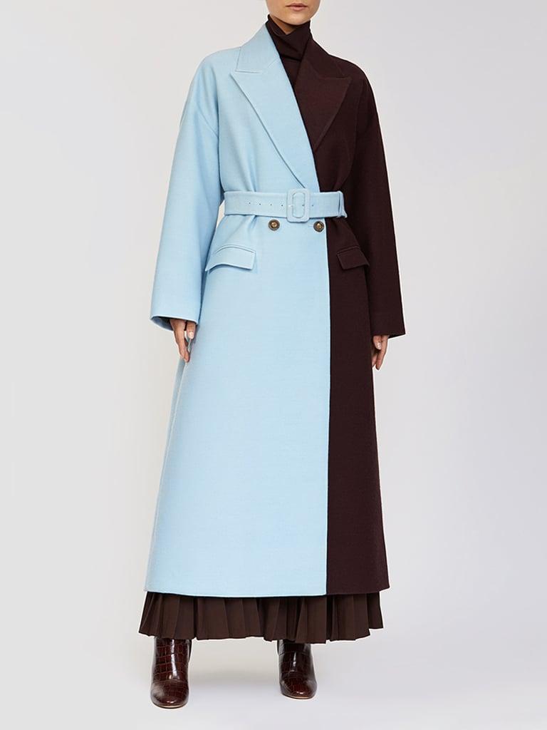Bouguessa Two Tone Long Coat