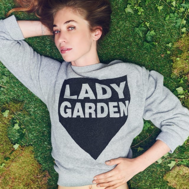 Topshop and Black Score Lady Garden Sweatshirt For Charity