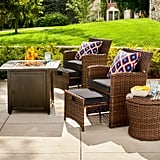 Halsted Wicker Patio Fire Chat Set